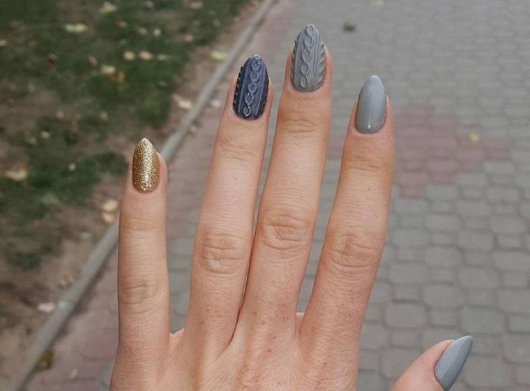 diseño de uñas sueter