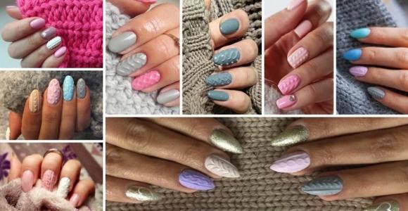 diseño uñas sueter