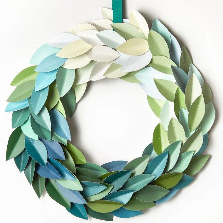 diy-corona-hojas-papel