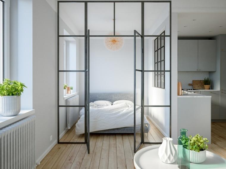 dormitorio-escandinavo-pared-cristal-ideas