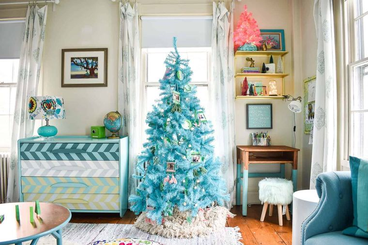 dormitorios infantiles arbol azul