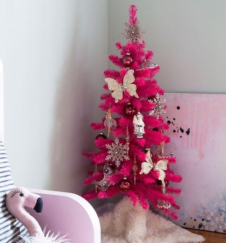dormitorios infantiles con arbol rosa