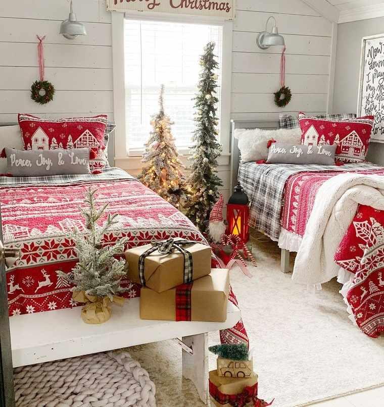 dormitorios infantiles decoracion navideña