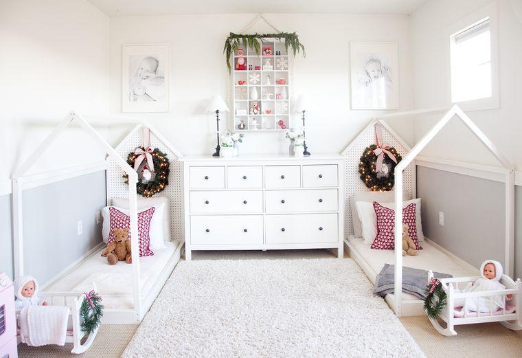 dormitorios infantiles en navidad