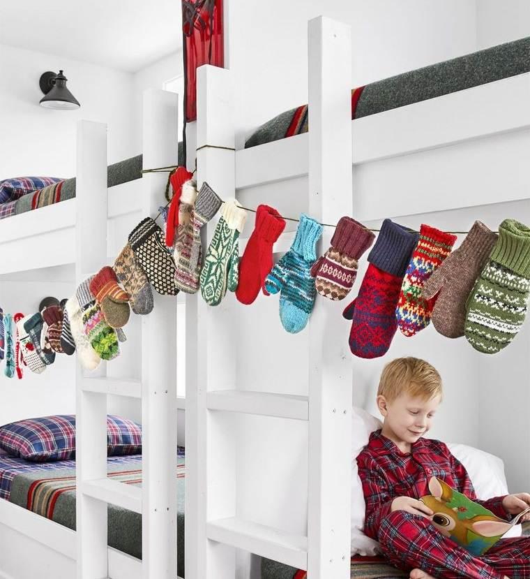 dormitorios infantiles guirnalda de guantes