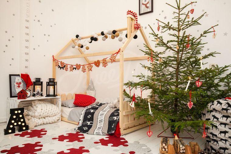 dormitorios infantiles hermosa decoracion navideña