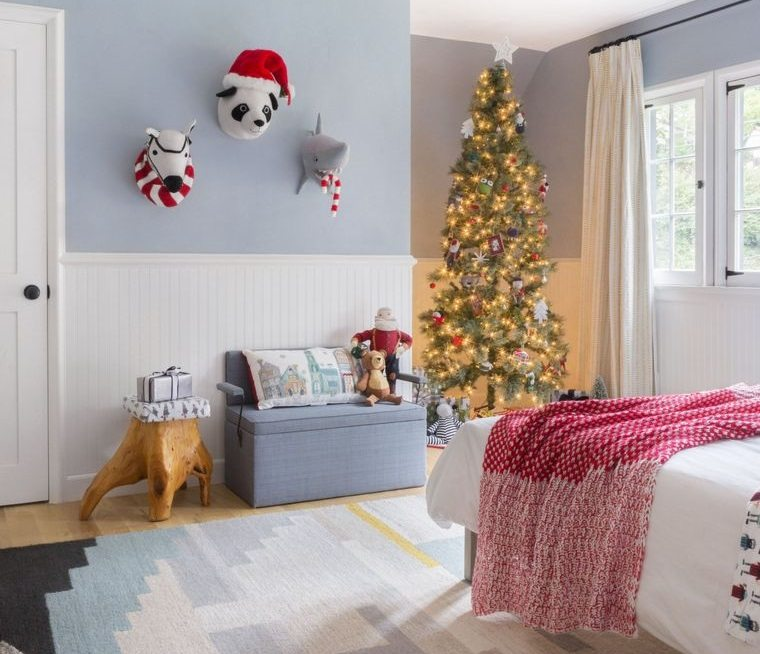dormitorios infantiles motivos navideños