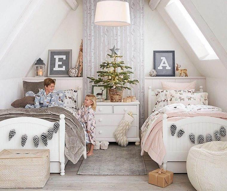 dormitorios infantiles navidad acogedora