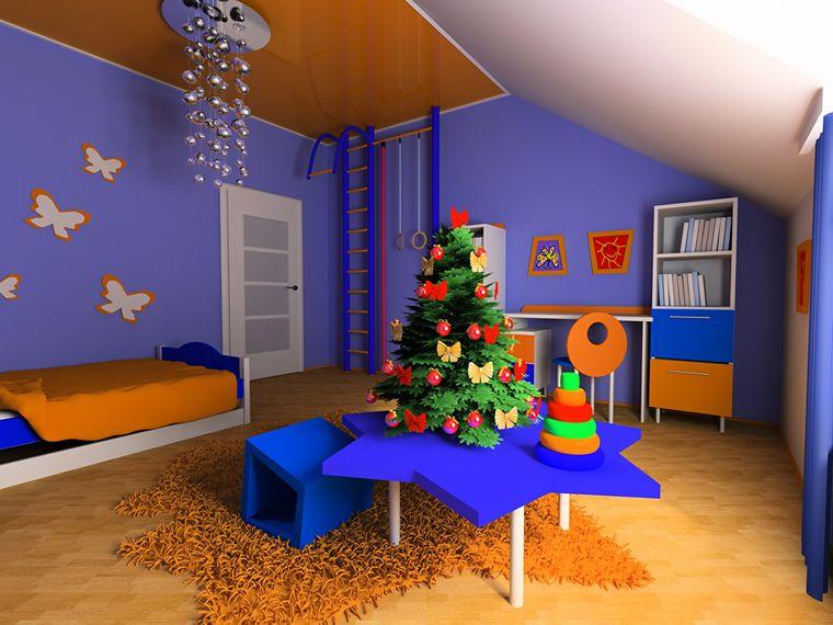 dormitorios infantiles navidad colorida