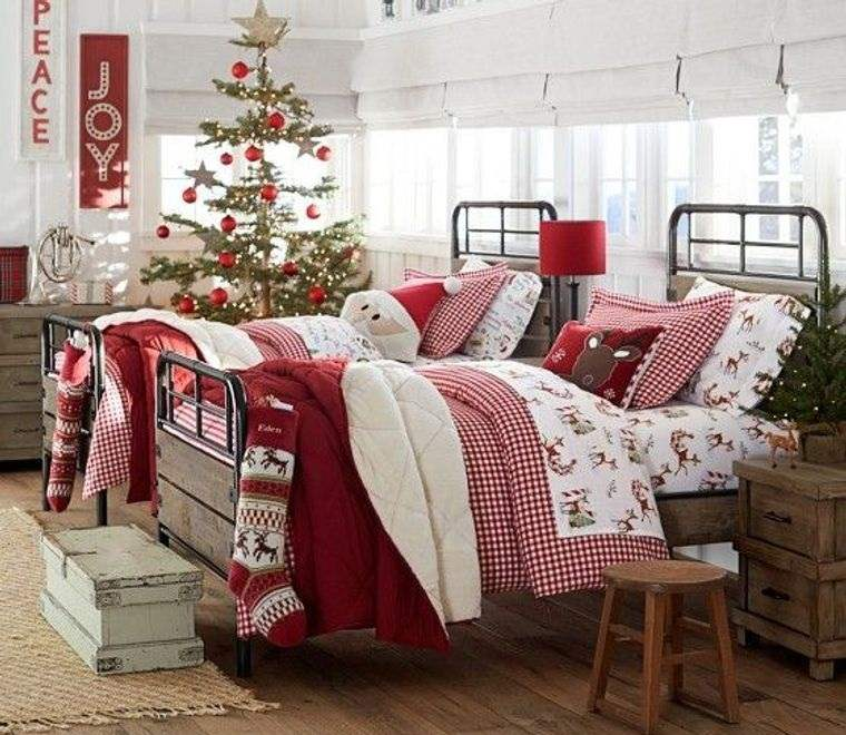 dormitorios infantiles navidad rustica