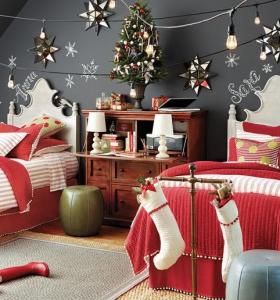 dormitorios infantiles navideños
