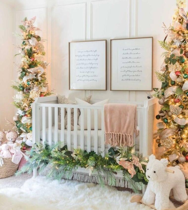 dormitorios infantiles para navidad