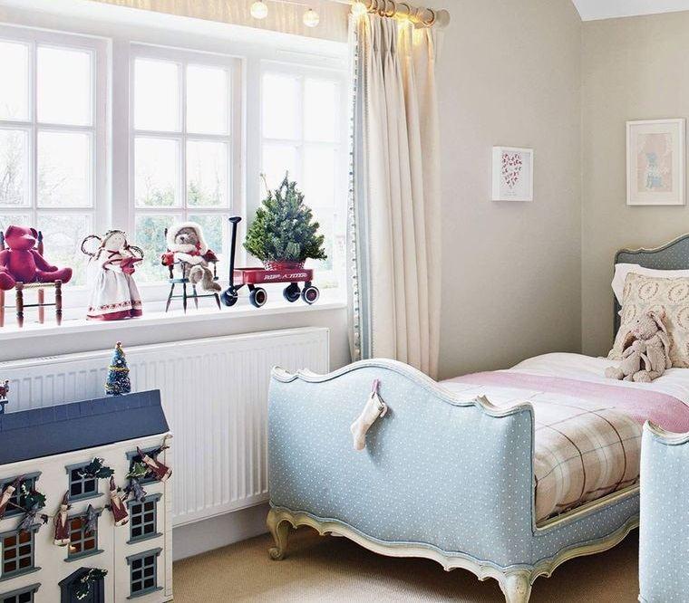 dormitorios infantiles sencilla navidad