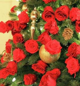 flores para decorar arbol navidad