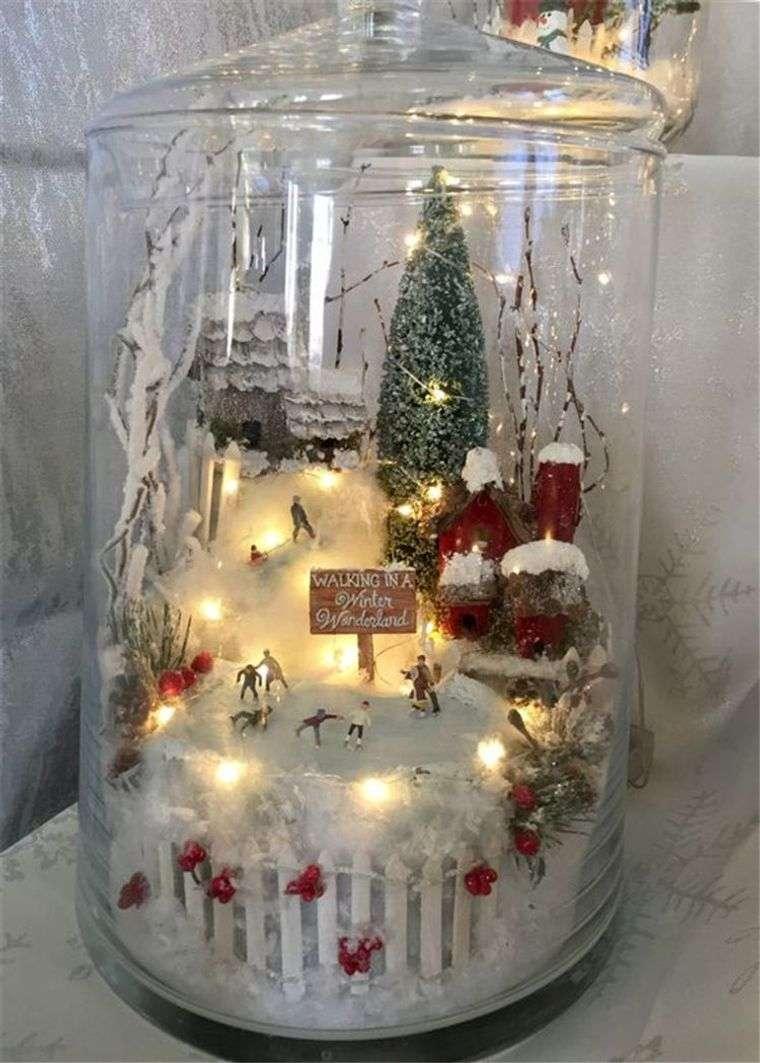 manualidades fáciles escena navideña vidrio