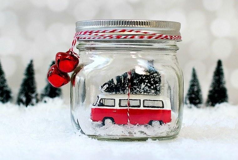 manualidades fáciles globo nieve