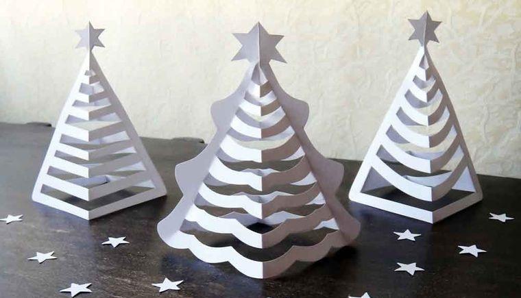 manualidades fáciles mini arboles papel 3D
