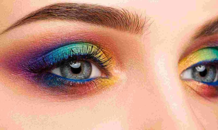 tipos de maquillaje colores arcoiris