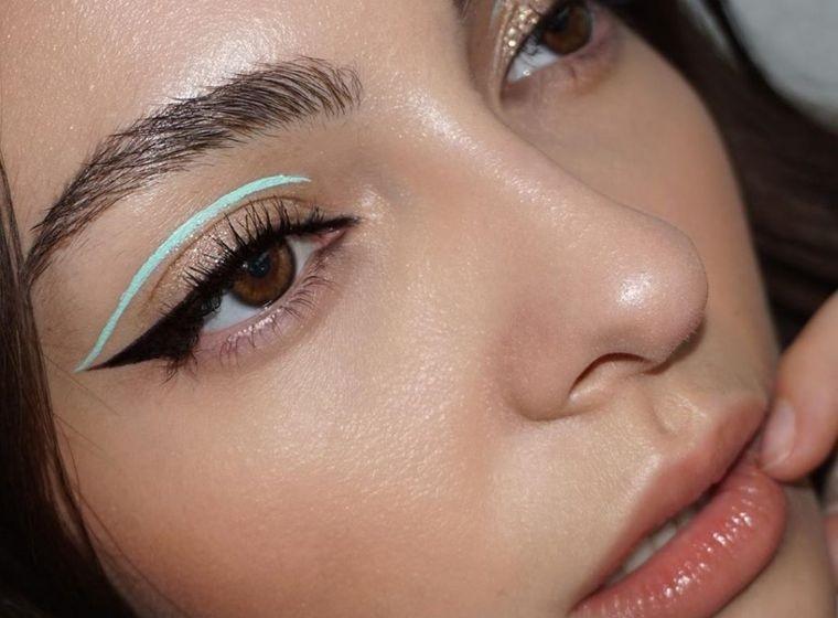 tipos de maquillaje lineas geometrica parpardo