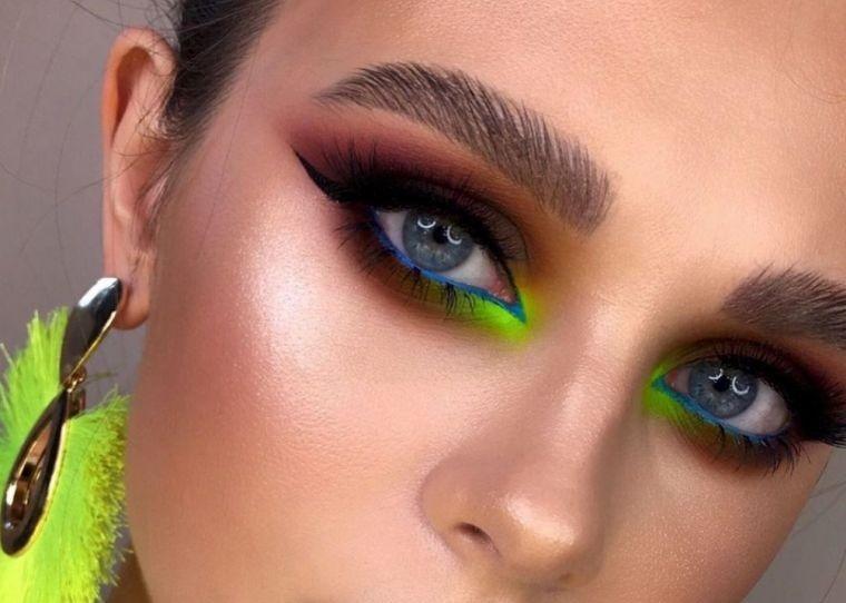 tipos de maquillaje ojos llamativos