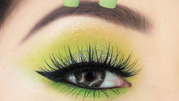 tipos de maquillaje sencillo color verde