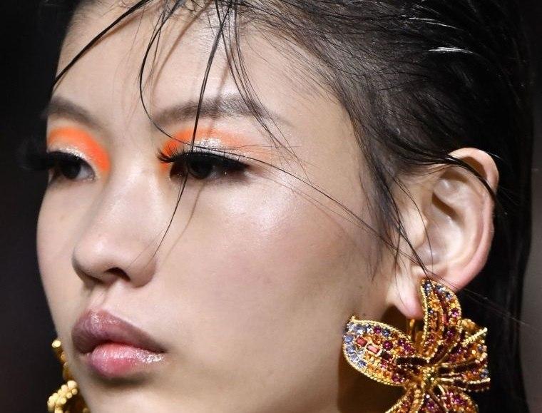 tipos de maquillaje sombra naranja