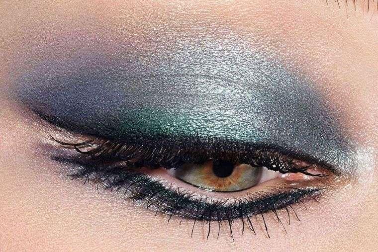 tipos de maquillaje sombras metalicas