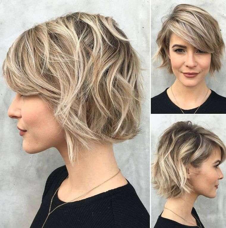 tipos de peinados mujer bob corto ondulado