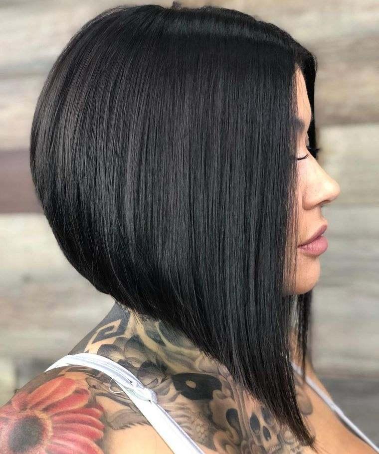 tipos de peinados mujer bob invertido