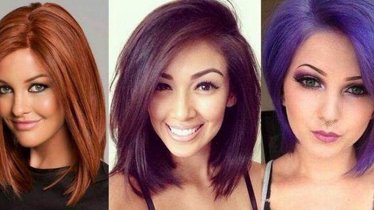 tipos de peinados mujer colores