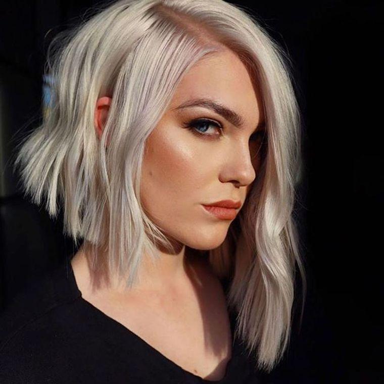 tipos de peinados mujer corte asimetrico