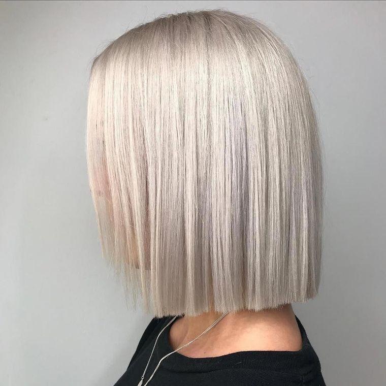 tipos de peinados mujer corto recto