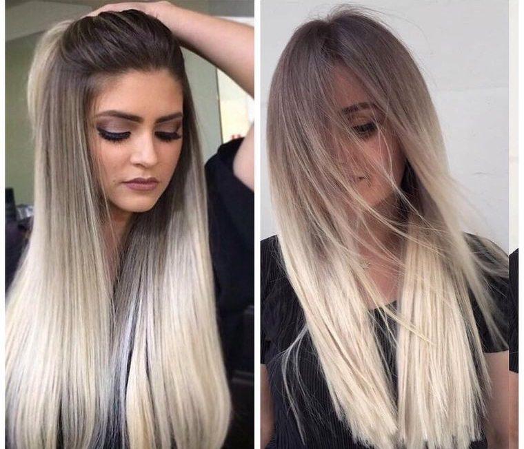 tipos de peinados mujer largo lacios