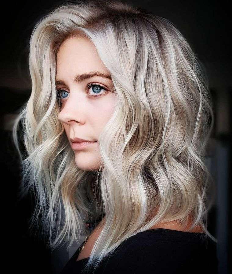 tipos de peinados mujer media melena