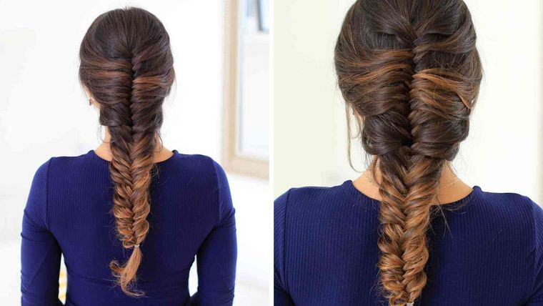 tipos de peinados mujer trenza cola pez