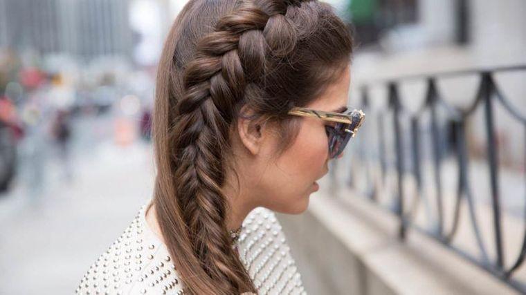 tipos de peinados mujer trenza francesa