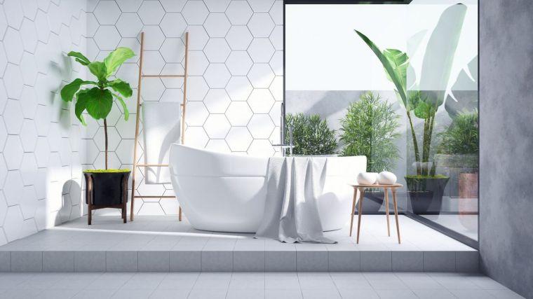 muebles de baño modernos 2021-blanco