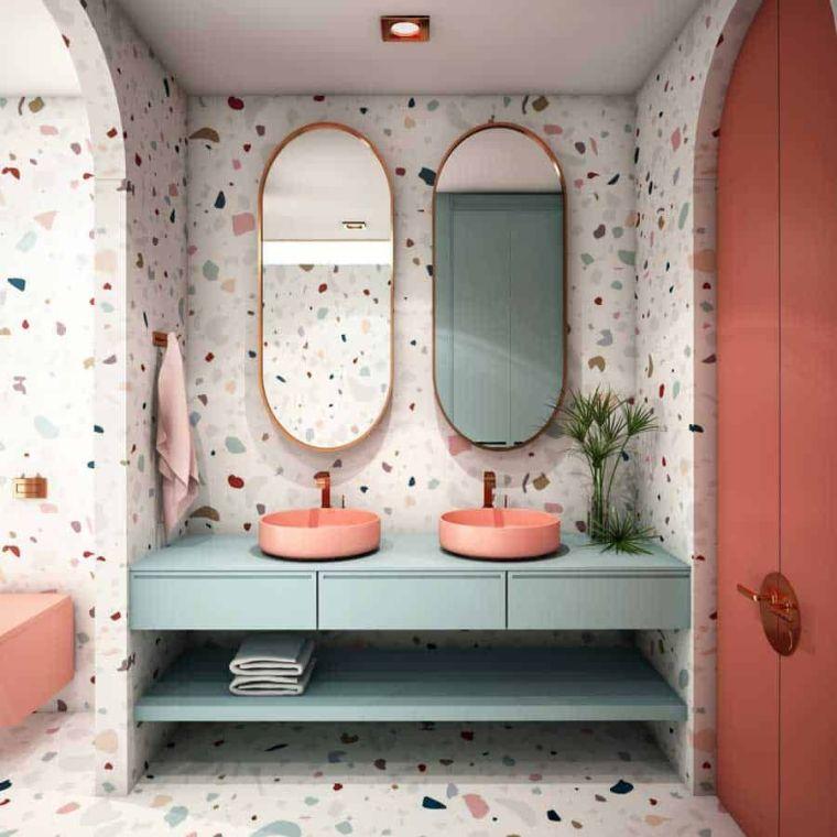 muebles de baño modernos 2021-combinar-colores