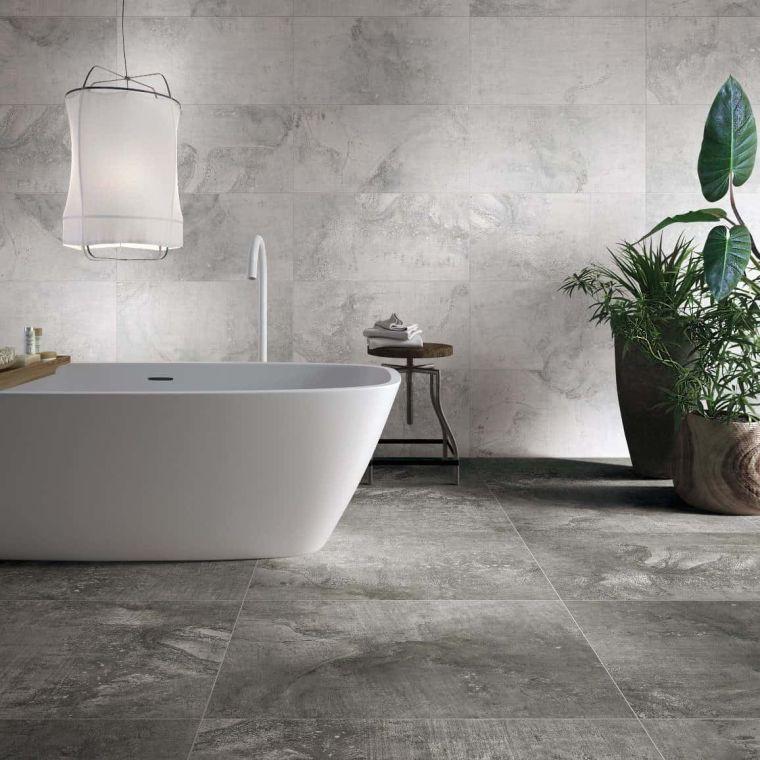 muebles de baño modernos-2021-gris