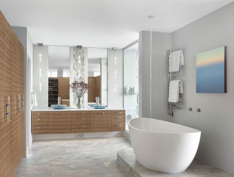 muebles de baño modernos 2021-ideas-madera
