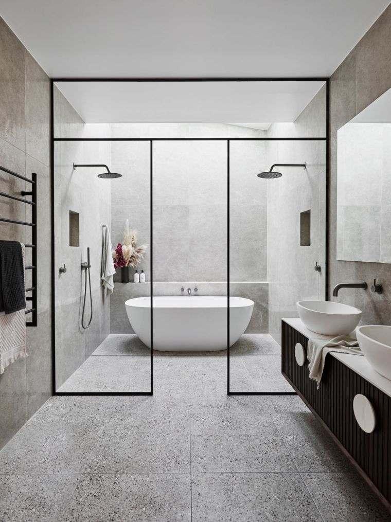 muebles de baño modernos-2021-mamparas-ideas