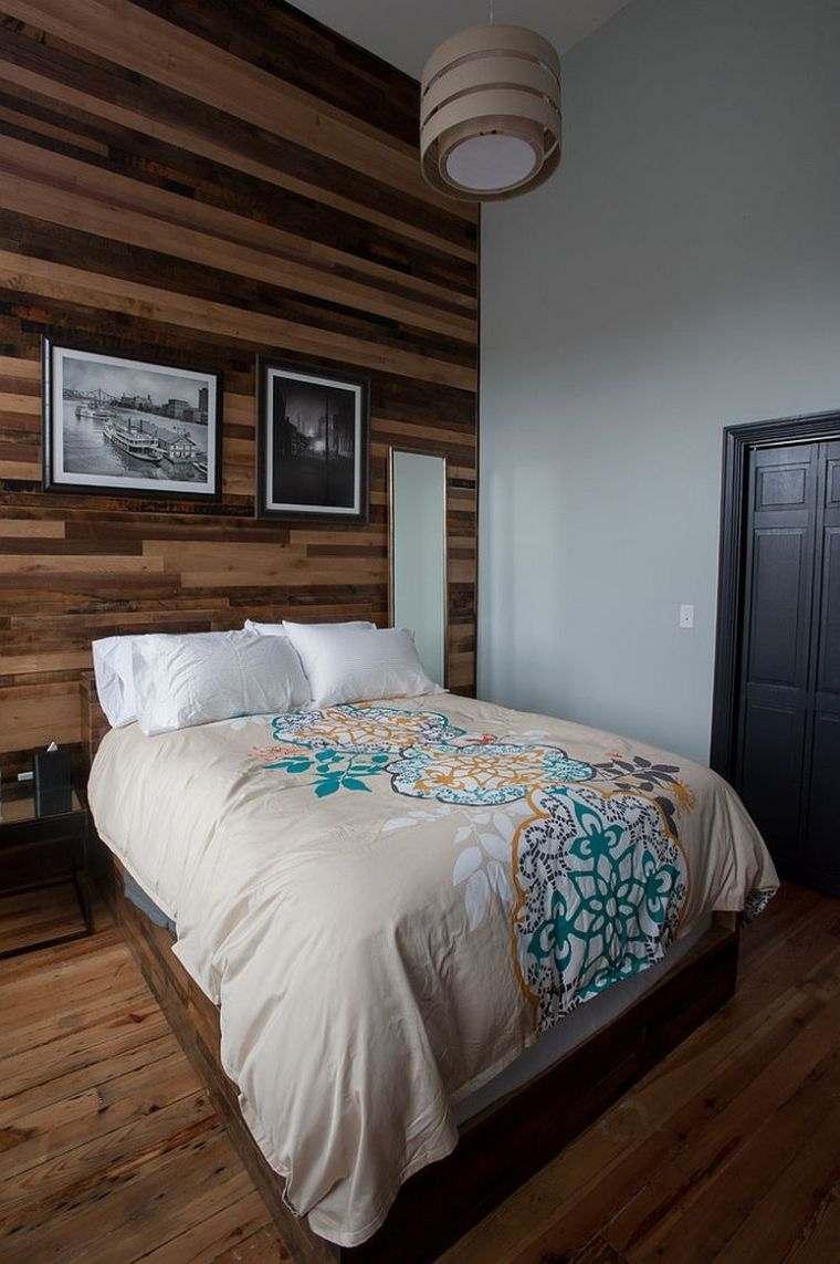 Paneles de madera para paredes interiores dormitorio