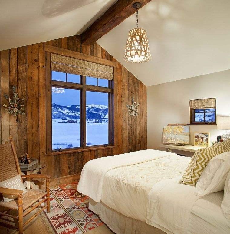 Paneles de madera para paredes interiores ventana