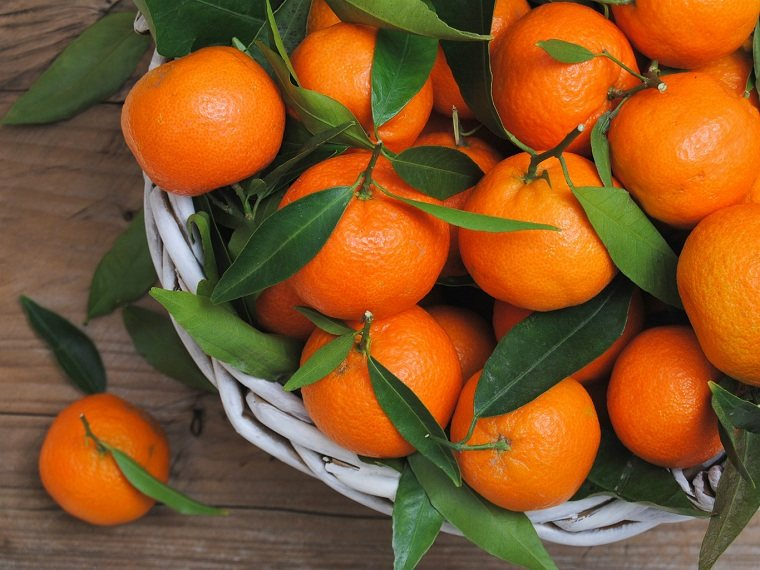 alimentos naranjas-amarillos-clementinas