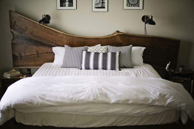 cabeceros de cama rusticos