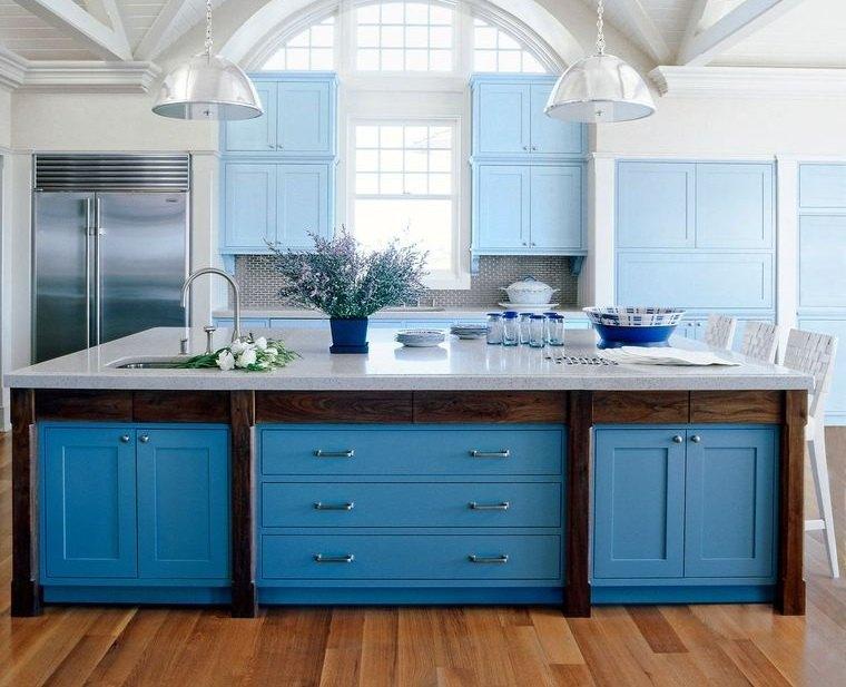 cocinas modernas combinacion color