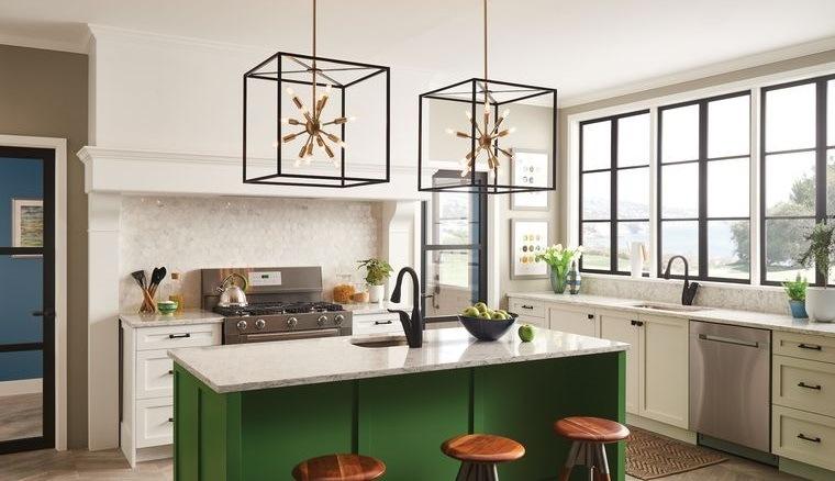 cocinas modernas con color