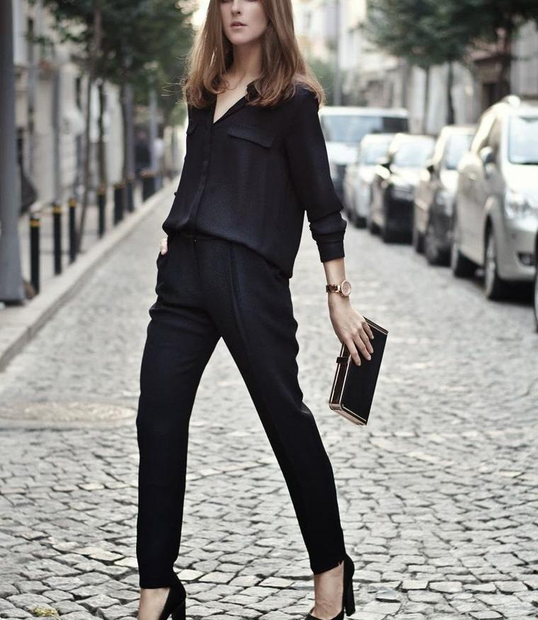 color negro look total