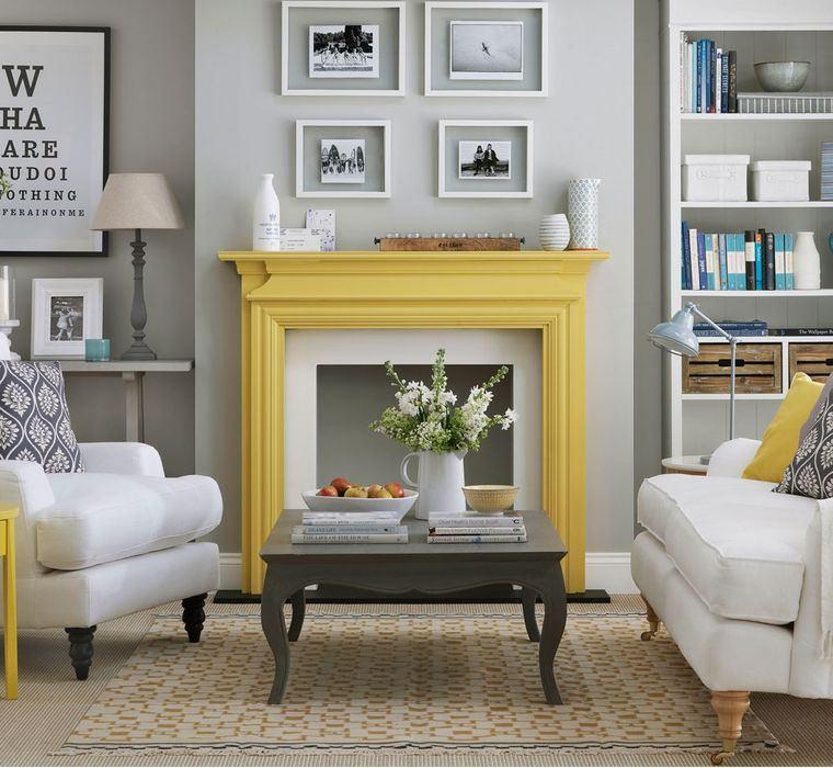 colores amarillo gris chimenea