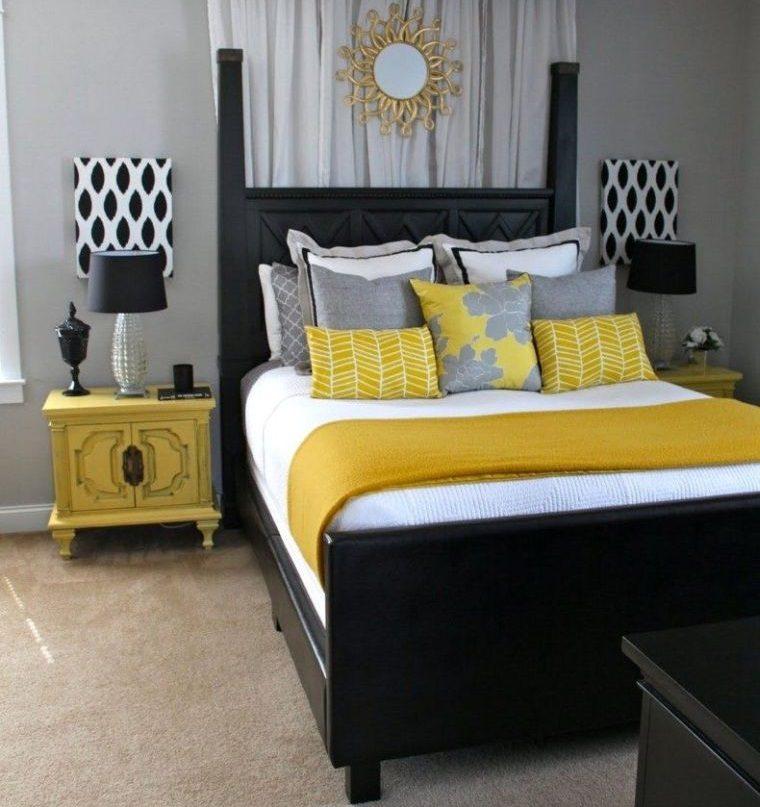 colores amarillo gris decoracion audaz